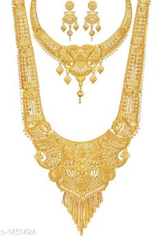 Checkout this latest Jewellery Set Product Name: *Women's Filigree Work Gold Plated Jewellery Set* Country of Origin: India Easy Returns Available In Case Of Any Issue   Catalog Rating: ★4.1 (2467)  Catalog Name: Women'S Alloy Gold Plated Jewellery Set CatalogID_188250 C77-SC1093 Code: 595-1451424-5961