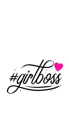 Simple, quote, wallpaper, background, iPhone, girlboss, girl boss, pink, heart, hashtag
