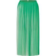 Naya Skirt   Moda Operandi (€575) ❤ liked on Polyvore featuring skirts, pleated skirt, green high waisted skirt, high waisted skirts, high waisted pleated skirt and high-waist skirt