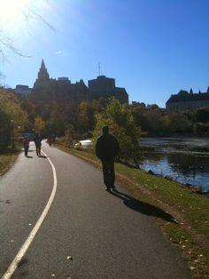 Bike path along the Ottawa river parkway, beautiful