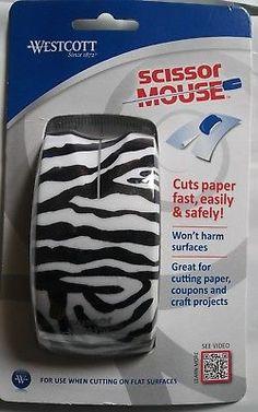 WESTCOTT Scissor Mouse Zebra Print Home Office School