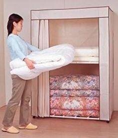 Amazon|日本製の布団収納庫 113cm幅 ふとん収納庫 (ダークブラウン ... 寝具収納ロッカー