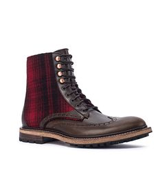 Men's Millwright Boot in Salt Marsh/Red Buffalo by WOOLRICH® The Original Outdoor Clothing Company