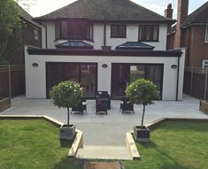 House Extension Plans, House Extension Design, Rear Extension, Extension Ideas, House Design, Bungalow Extensions, Garden Room Extensions, House Extensions, Open Plan Kitchen Dining Living
