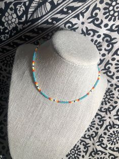 Beaded Choker Necklace, Seed Bead Necklace, Seed Bead Jewelry, Diy Necklace, Cute Jewelry, Beaded Jewelry, Beaded Bracelet Patterns, Beaded Bracelets, Jewelry Booth