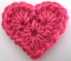 cute and quick crochet heart