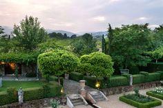 The idyllic gardens from Borgo Santo Pietro. Beauty in the Tuscan hills