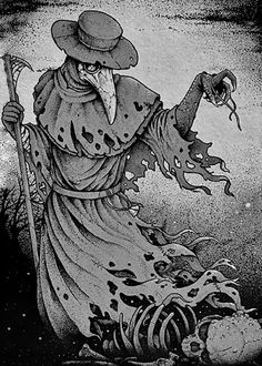 Plague Doctor by DeadInsideGraphics monster beast creature animal Plague Mask, Plague Doctor Mask, Plague Dr, Art And Illustration, Fantasy Kunst, Fantasy Art, Doctor Tattoo, Doctor Drawing, Arte Obscura