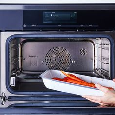 Carrots, we're not intimidated by you! Especially not with a Miele combi-steam oven.