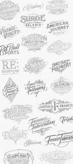 Handlettered Logotypes 4 on Typography Served http://jrstudioweb.com/diseno-grafico/diseno-de-logotipos/