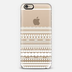 White Modern Aztec Partial Transparent iPhone 6 Case by Organic Saturation | Casetify. Get $10 off using code: 53ZPEA