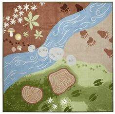 We ♥ the new Vandring Spar low pile rug from Ikea. We are a big fan of Ikea series of play rugs. Bring out those forest friends and let the imagination flow free! Ikea Kids, Woodland Theme, Woodland Baby, Woodland Nursery, Forest Theme, Forest Nursery, Nursery Area Rug, Baby Room Rugs, Nursery Decor