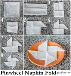 Pinwheel Napkin Fold