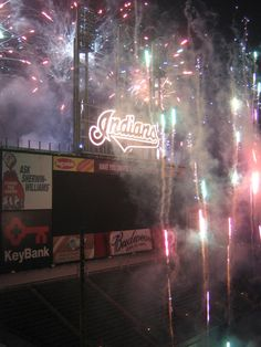 Fireworks night after a Cleveland Indians game