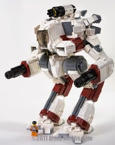 Marauder IIC assault mech variant from Age of Destruction (Dark Age). By Khoa Nuyen #lego #mecha #robot