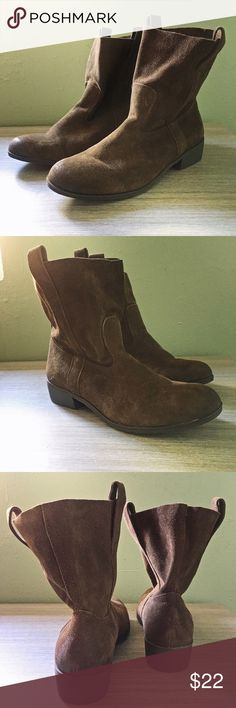 NWOB American Eagle Suede Festival Booties Brand new never worn without box. Brown suede slouchy American Eagle booties. Perfect for festival season! True to size and super comfortable. American Eagle Outfitters Shoes Ankle Boots & Booties