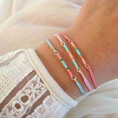 ♥ Mini Bracelets -hechas a mano