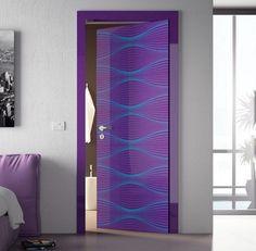 beautiful mozaic violet painting interior doors | 20 Best Bathroom door ideas images | Doors, Bathroom ...