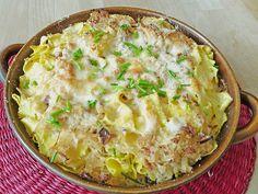 Sauerkraut - Gratin mit Bandnudeln, ein raffiniertes Rezept aus der Kategorie Gemüse. Bewertungen: 187. Durchschnitt: Ø 4,3.