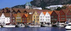 The UNESCO protected Hanseatic Wharf in Bergen #Norway