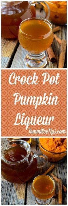 This Crock Pot Pumpkin Liqueur recipe is so easy to make in the slow cooker! The perfect way to make a boozy pumpkin spice latte or a martini. Take your pumpkin spice lattes to a new level by making them an adult alcoholic beverage! Perfect for fall this