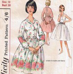 Vintage Shirtwaister Dress Pattern