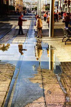 On de main street in San Fernando, Andalusia_ Spain