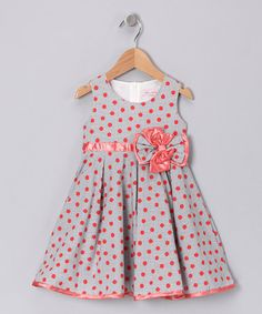Take a look at this Gray Polka Dot Dress - Infant, Toddler & Girls by Rose Kelly on #zulily today! http://www.zulily.com/invite/vhanson979