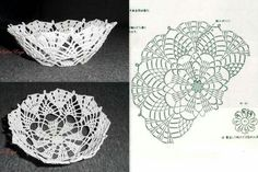 Best 12 Coroa da princesa We are want to say thanks if you like to share this post to another people via your – SkillOfKing. Lace Doilies, Crochet Doilies, Crochet Flowers, Crochet Vase, Thread Crochet, Crochet Diagram, Crochet Chart, Ombre Yarn, Crochet Storage