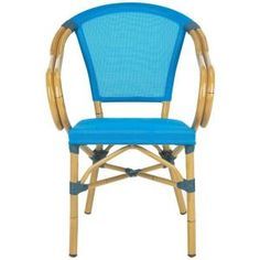 Safavieh Karine Blue Textile Aluminum Patio Armchair (2-Pack)-PAT4003A-SET2 at The Home Depot