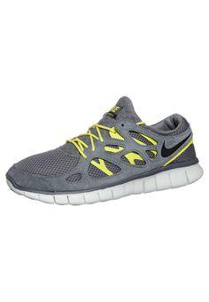 256dd011128cc Outlet en Ligne Nike Free Run 2 Pour Homme Chaussures De Course Gris Volt  Noir Blanc