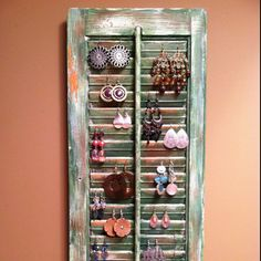 Old shutter repurposed - See this at Renewsables and make your own!