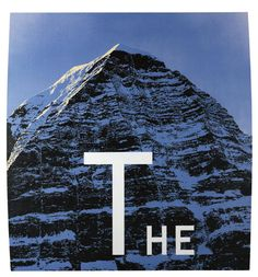 Ed Ruscha 「The Mountain」