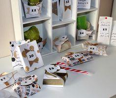 """Adventskalender - """"Gold"""" Kaffee/Schoko/Cookie Adventskalender - ein Designerstück von FrlBetty bei DaWanda"""
