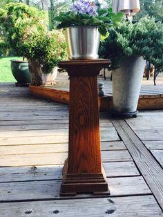 Vintage Wood Plant Stand- Arts and Crafts Oak/ Wooden Plant Stand Tall Plant Stands, Wooden Plant Stands, Modern Plant Stand, Stand Tall, Vintage Wood, Vintage Home Decor, Church Design, Outdoor Ceiling Fans, Plant Decor