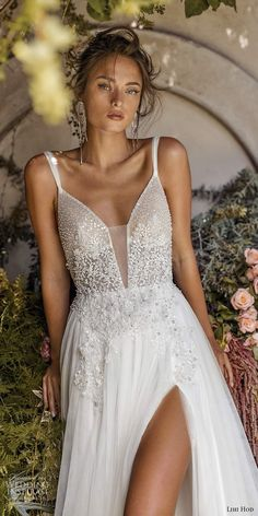 fall wedding dress lihi hod fall 2020 bridal sleeveless straps plunging v neckline fully embellished a line ball gown wedding dress v back mv -- Lihi Hod Fall 2020 Wedding Dresses Sheer Wedding Dress, Western Wedding Dresses, Perfect Wedding Dress, White Wedding Dresses, Wedding Dress Styles, Bridal Dresses, Wedding Gowns, Flower Girl Dresses, Wedding Bride