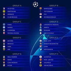 The UEFA Champions League group stage fixtures has been released today with Barcelona against Tottenham , while Juventus will ta. Manchester City, Manchester United, Champions League Fixtures, Champions League Draw, Cristiano Jr, Cristiano Ronaldo Junior, Steven Gerrard, Eden Hazard, Arsenal Fc