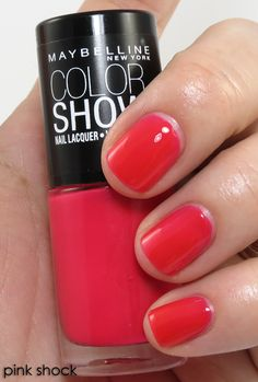 7 Hot Shades of Maybelline Color Show Nail Polish, I love 'Pink Shock'!