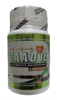 ZAADOL A-Z MULTIVITAMIN CAPS 30 Coconut Oil, Jar, Health, Food, Salud, Health Care, Essen, Healthy, Yemek