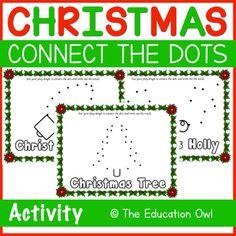 Christmas Connect the Dots Play Dough Mats Winter Christmas, Christmas Themes, Christmas Printable Activities, Connect The Dots, Play Dough, Teacher Newsletter, Teacher Pay Teachers, Connection, Kindergarten