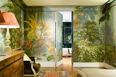 Patterned wallpaper / paper / traditional / handmade - l'EDEN - DE GOURNAY