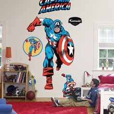 1000 images about superhero bedroom ideas on pinterest for Captain america bedroom ideas
