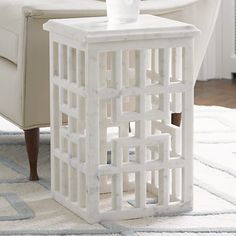 Marble Gridblock Side Table