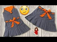 Beautiful and new baby skirt making simple way // by simple cutting Baby Girl Skirts, Baby Skirt, Baby Dresses, Summer Dresses, Kids Frocks Design, Baby Frocks Designs, Simple Frocks, Baby Frock Pattern, Kids Blouse Designs