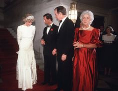 Pin for Later: The Royal Family's Travel Album United States In November 1985, Princess Diana and Prince Charles met with then VP George Bush and his wife, Barbara, during a dinner at the British Embassy.