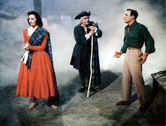 Gene Kelly, Cyd Charisse and Barry Jones in Brigadoon 1954