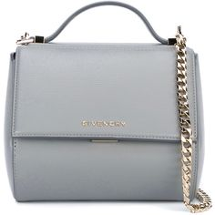Givenchy Leather Pandora Box Handbag ($1,595) ❤ liked on Polyvore featuring bags, handbags, shoulder bags, bolsas, genuine leather tote, leather handbags, grey leather tote, gray leather tote and leather purses