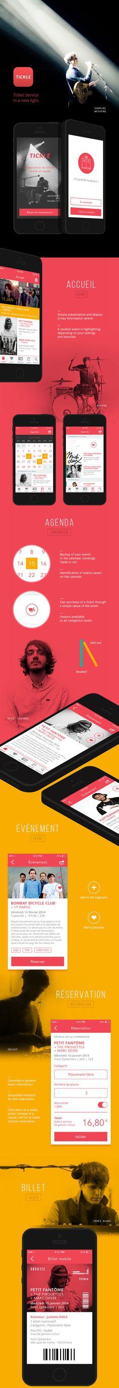 Tickle - Concept Mobile app