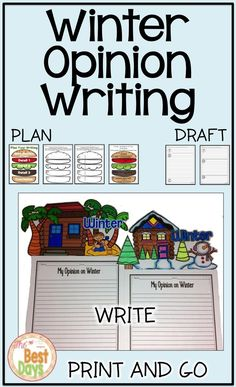 Are you ready to have some fun with your opinion writing?  With this writing prompt, students get to share their opinion of how they feel about winter.  They will work through the writing process and create a final draft with their choice of headers-snowy winter or sandy winter!  So much fun!  Find it now at The Best Days!