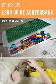 Tips om je kinderen bezig te houden tijdens het reizen. Ga je met de auto op vakantie? Lees onze LEGO vakantie tips voor op de achterbank. Diy With Kids, Diy Gifts For Kids, Travel With Kids, Crafts For Kids, Diy Lego, Lego Lego, Busy Boxes, Kids Corner, Go Camping
